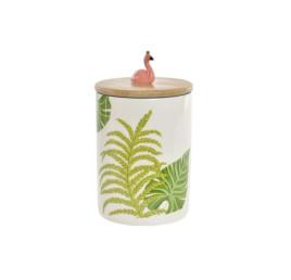 Bocal floral en porcelaine 9,5X9,5X16,5 cm