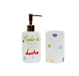Set de 2 accessoires de salle de bain TODO ES 8X7X17,5 cm