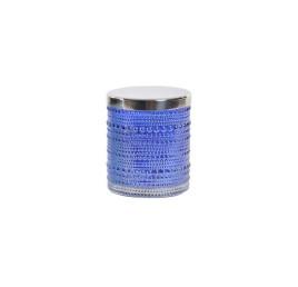 Bougie so glam bleu pétrole 8,3X8,3X9,5 cm