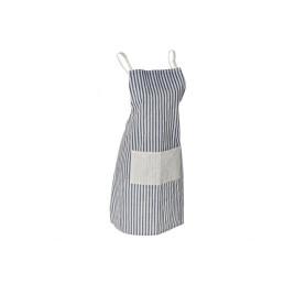 Tablier de cuisine rayure Bleu en coton 70X80 cm