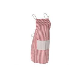 Tablier de cuisine rayure Rouge en coton 70X80 cm