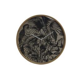 Horloge mural Tropical Naturel en MDF 40X5X40 cm