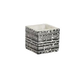 Bougie en Ciment Noir 8,3X8,3X8 cm