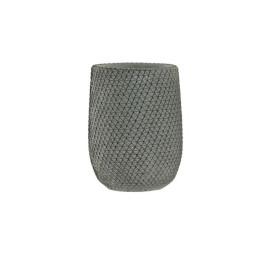 Vase en ciment gris 13x13x28 cm