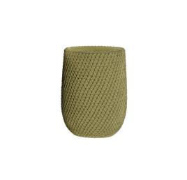 Vase en ciment vert 13x13x28 cm