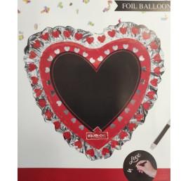 Ballons cœurs avec stylos