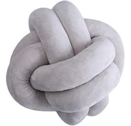 Coussin Nœud en gris