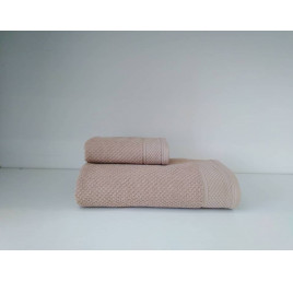 Set de 2 serviettes Hotelerie en rose