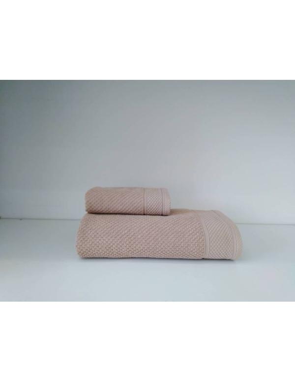 Set de 2 serviettes Hotelerie en rose