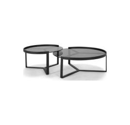 Set de 2 tables DIAMANT en noir