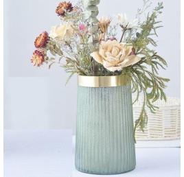 Vase Gold vert d'eau 11x19,5 cm