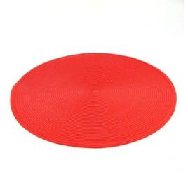 Sous plat rond en rouge