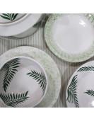 Service à table 25 pièces plume verte