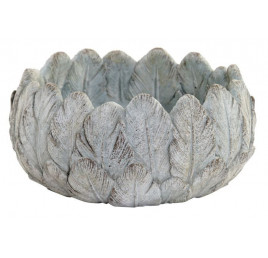 Support pot FEATHERS AGED GREY 20X20X10 cm
