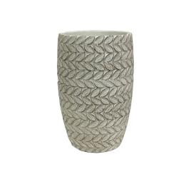 Support pot fleur en ciment gris 14X14X22 cm