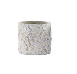 POT à FLEUR CHIC en ciment doré 12X12X12 cm
