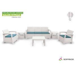 Salon de jardin Syphax 5 places (modulable)