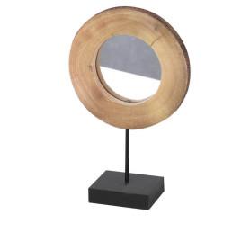 Miroir Rondin de Bois – Petit Modèle –