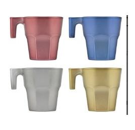 Set de 4 tasses à café CASABLANCA metallicia