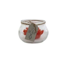 BOUGIE corail en rouge