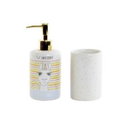 Set de 2 accessoires de salle de bain unicorne