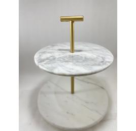 Étagère circulaire en marbre