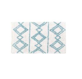 TAPIS DE BAIN amazigh en blanc 50X80X2 cm