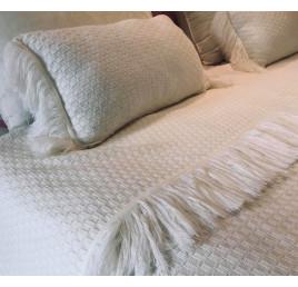 coussin rectangulaire en laine