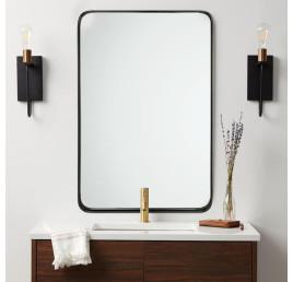Miroir design noir rectangulaire 60x80 cm