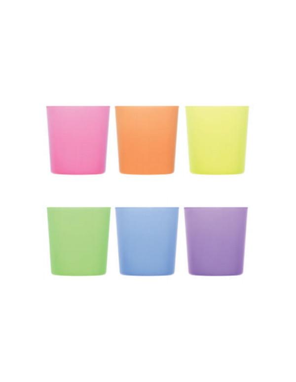 Set de 6 verres BODEGA coloré H:88mm