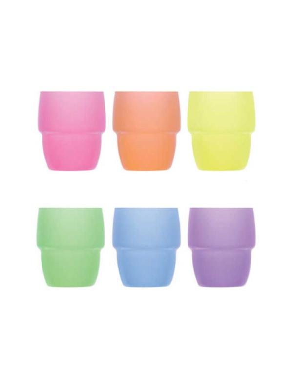Set de 6 verres GALATA coloré H:89mm