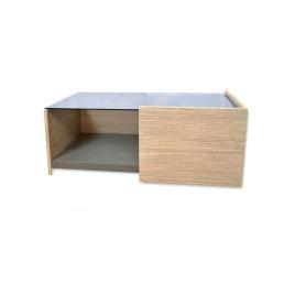 Table basse graphite/chêne 100X50cm